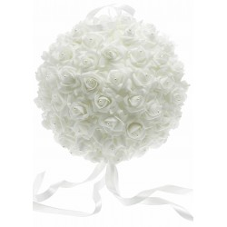 Rose Ball with Pearls (22cm Diameter)