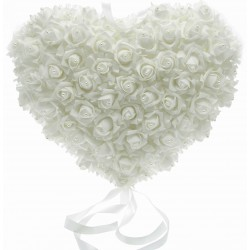 Rose Heart with Pearl (42cm Diameter)