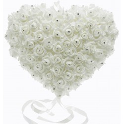 Rose Heart with Diamantes (24cm Diameter)