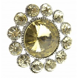 Centre of Attention Brooch Pin - Gold