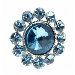 Centre of Attention Brooch Pin - Turquoise