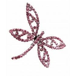 Dragonfly Brooch Pin - Pink (15cm Pin)