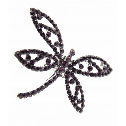 Dragonfly Brooch Pin - Purple (15cm Pin)
