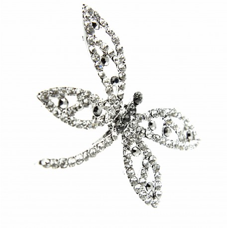 Dragonfly Brooch Pin - Silver (15cm Pin)