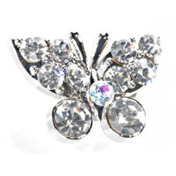 Kara's Kisses - Butterfly - Silver (1.5cm Diameter, 3 pieces per pack)