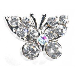Kara's Kisses - Butterfly - Silver - 3 pieces per pack