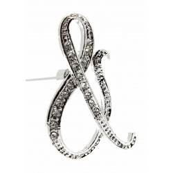 Monogram Letters & - Silver (15cm pin)