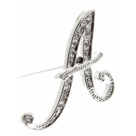 Monogram Letters A - Silver (15cm pin)