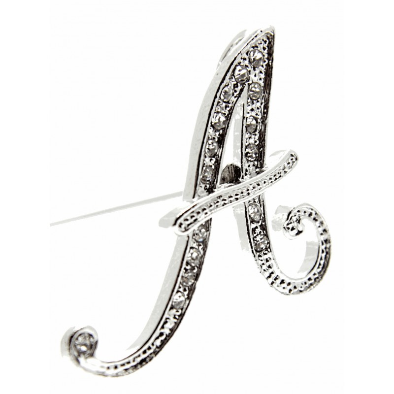 Monogram Letters A Silver Corsage Creations