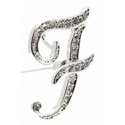 Monogram Letters F - Silver