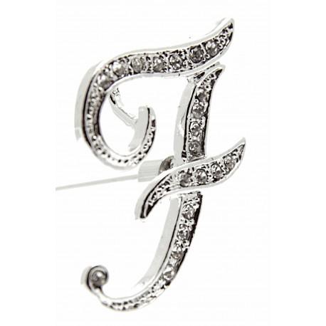 Monogram Letters F - Silver (15cm pin)