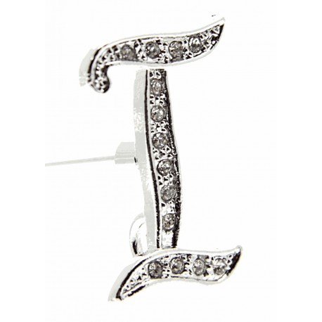Monogram Letters I - Silver (15cm pin)