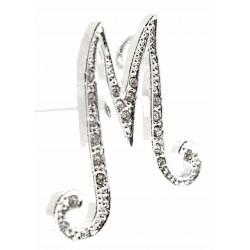Monogram Letters M - Silver
