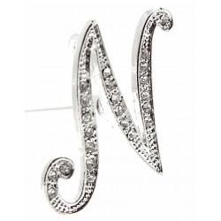 Monogram Letters N - Silver