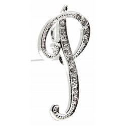 Monogram Letters P - Silver (15cm pin)