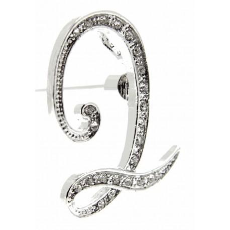 Monogram Letters Q - Silver (15cm pin)