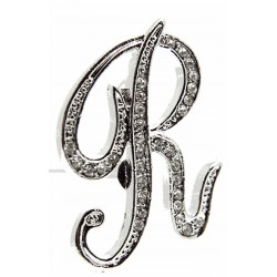 Monogram Letters R - Silver