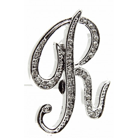 Monogram Letters R - Silver (15cm pin)