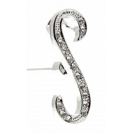 Monogram Letters S - Silver (15cm pin)