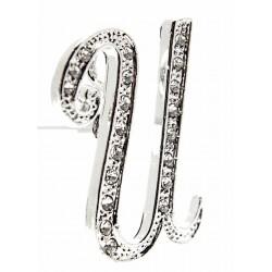 Monogram Letters U - Silver