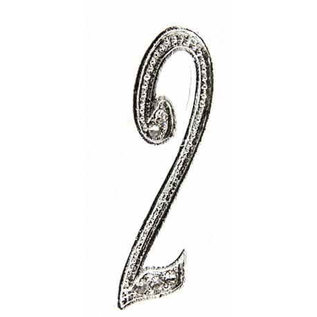 Monogram Numbers 2 - Silver (15cm pin)