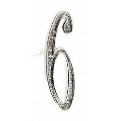 Monogram Numbers 6 - Silver