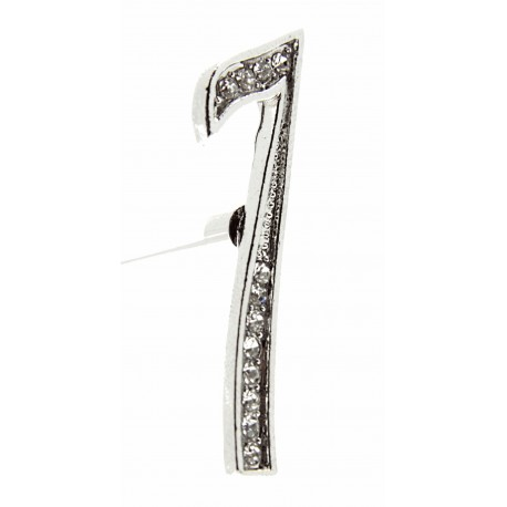 Monogram Numbers 7 - Silver (15cm pin)