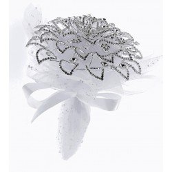 Fancy Brooch Bouquet Elegant - Silver