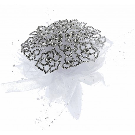 Fancy Brooch Bouquet Glamour- Silver