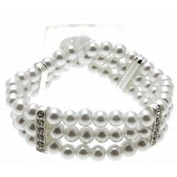 Empress White Corsage Bracelet
