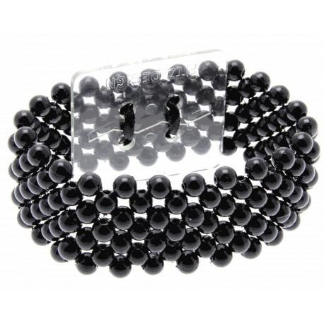 Narrow Classic Corsage Bracelet - Black