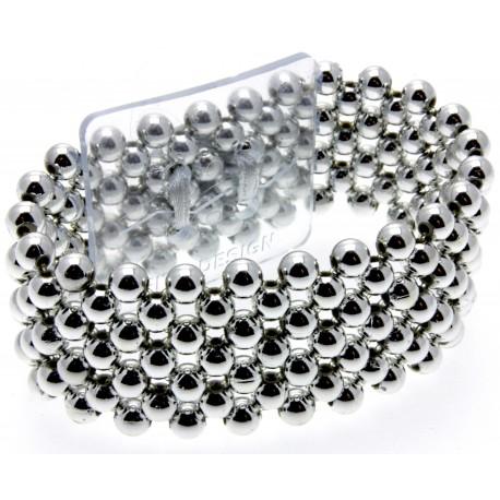 Narrow Classic Corsage Bracelet - Silver