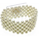 Narrow Classic Corsage Bracelet - Cream