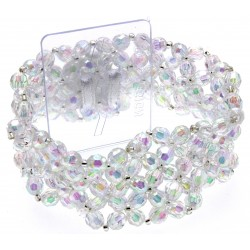 Narrow Classic Corsage Bracelet - Clear Iridescent