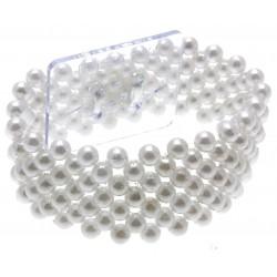 Narrow Classic Corsage Bracelet - White