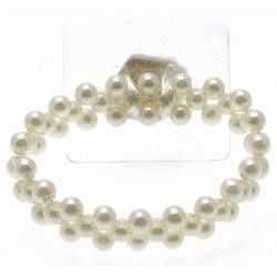 Special Day Cream Corsage Bracelet (Pack of 4, 7cm diameter)