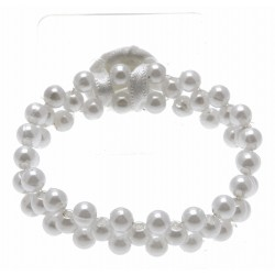 Special Day White Corsage Bracelet (Pack of 4, 7cm diameter)