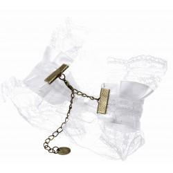 Vintage Lace Victoria Corsage Bracelet - White