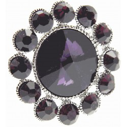 Centre of Attention Brooch Pin - Purple