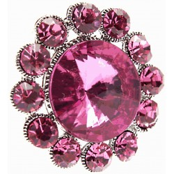 Centre of Attention Brooch Pin - Hot Pink