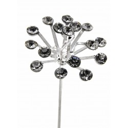 Explosion Pin - Silver (2cm Diameter, 3 pieces per pack)