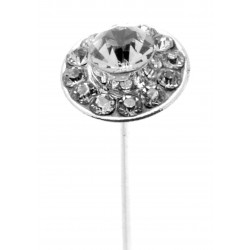 Kara's Kisses - Razzle Silver Floral Pick (Pack of 3)