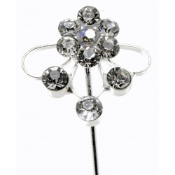 Kara's Kisses - Splendor Silver Floral Pick (1.5cm Diameter, 3 pieces per pack)