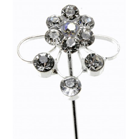 Kara's Kisses - Splendor Silver Floral Pick (Pack of 3)
