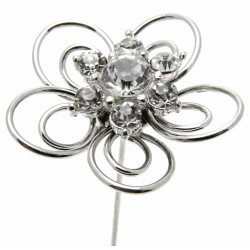 Kara's Kisses Fun Time - Silver (3cm Diameter, 3 pieces per pack)
