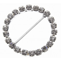 Silver Circle Bouquet Buckle