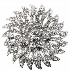 Silver Floraburst Bouquet Buckle