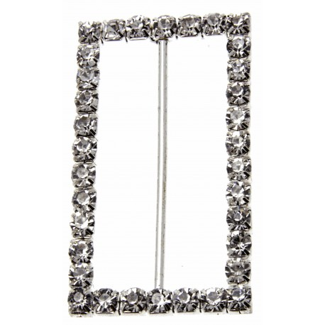 Silver Rectangle Bouquet Buckle