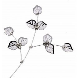 Button Ivy Leaves - Silver