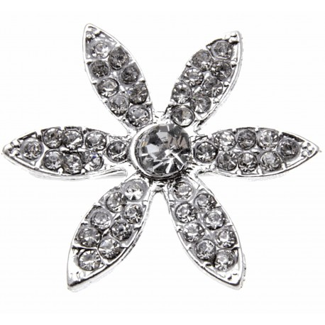 Silver Daisy Bouquet Buckle